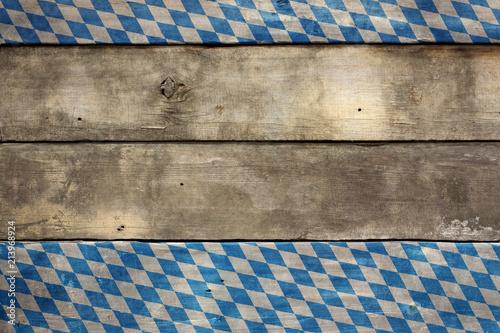 Fotografie, Obraz  Bavarian Wood Sign Old Wooden Background