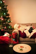 Santa Sneaks A Nap