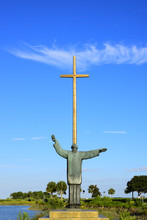 The Great Cross And Statue At Saint Augustine, Florida