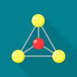Molecule icon. Flat illustration of molecule vector icon for web design