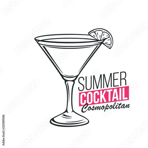 Fototapeta glass of Cosmopolitan cocktail