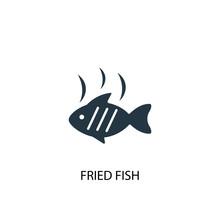 Fried Fish Creative Icon. Simp...
