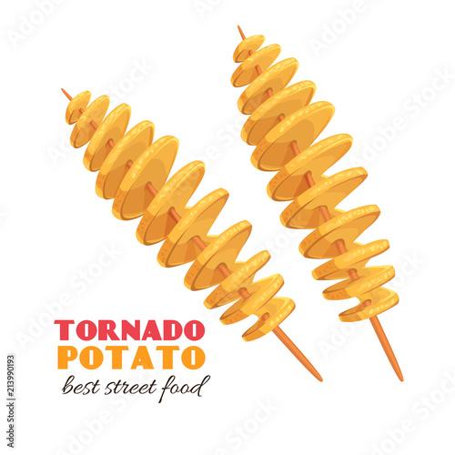 Fotografie, Obraz  spiral tornado potato