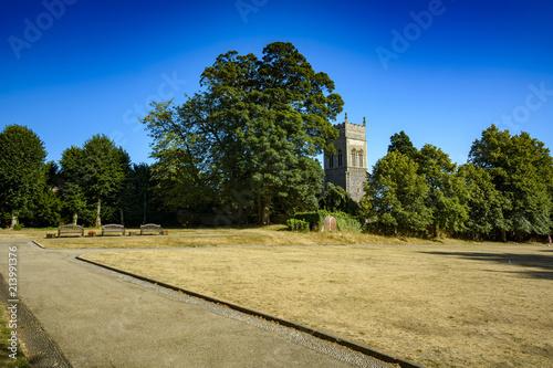 Carta da parati Church and trees at Christchurch park in Ipswich Suffolk