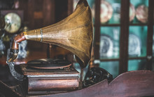 Horn Gramophone Music Player