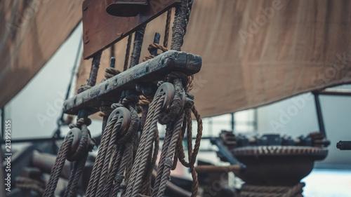 Türaufkleber Schiff Vintage Ships' Mast