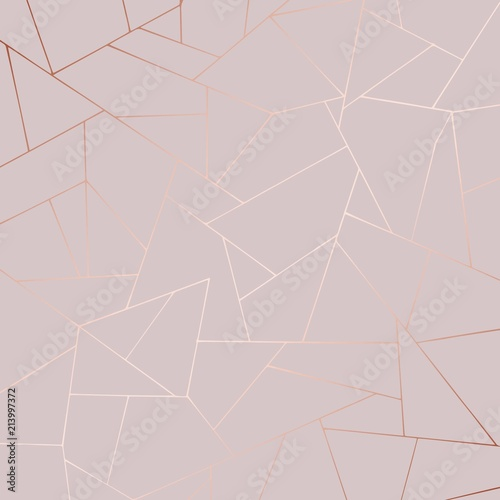 Cuadros en Lienzo Decorative background with rose gold imitation