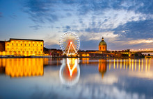 Ferries Wheel River. Toulouse,...