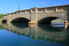 Axmouth Bridgein East Devon Is The Oldest Concrete Bridge In Britain,  Built Over The River Axe In 1877
