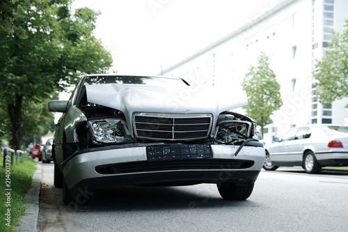 Unfallauto, Verkehrsunfall