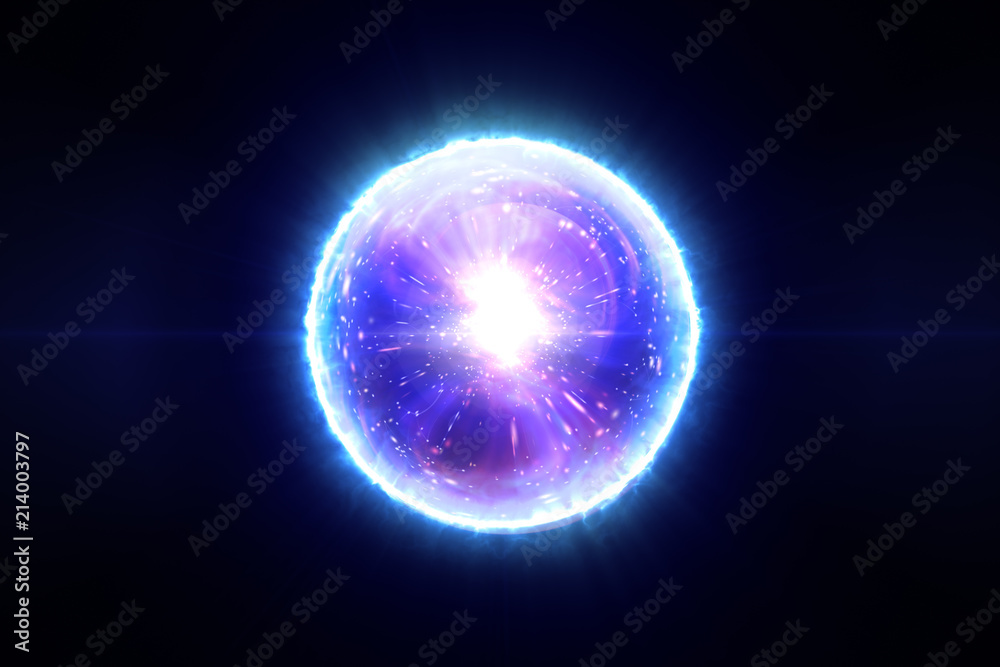 Fototapety, obrazy: Abstract magic sphere with molecules of compounds 3d illustration