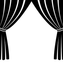 Theatre Stage Icon Simple. Ill...