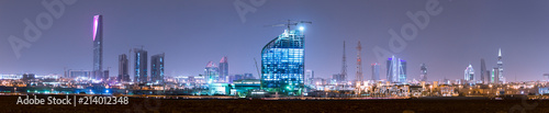 Photo RIYADH, SAUDI ARABIA - OCTOBER 15, 2015: Outside distance skyline view on Riyadh