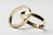 Isolated Golden Wedding Rings ...