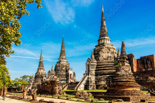 Wat Phra Si Sanphet is a popular tourist attraction in Ayutthaya Thailand.