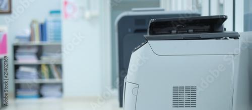 Photo Printer scanner or laser copy machine in office