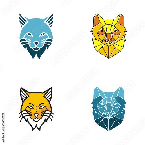 Cuadros en Lienzo lynx logo design