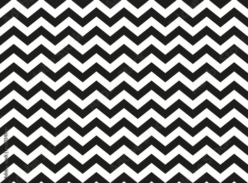 Photo Regular black and white zigzag chevron pattern, seamless zig zag line texture ab