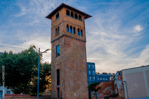 an old tower in milan Wallpaper Mural
