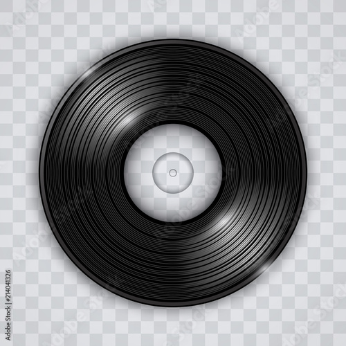 Cuadros en Lienzo  Vinyl record transparent effect vector