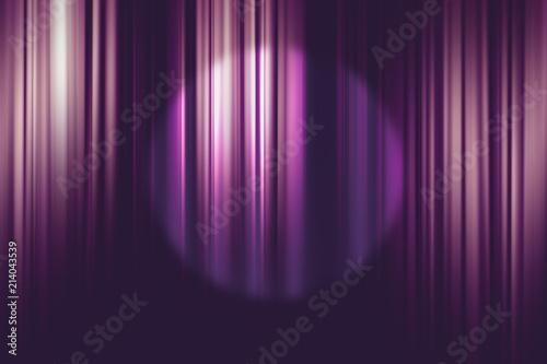 spotlight on purple movie theater curtains background