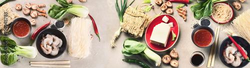 Asian food  ingredients.