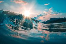 Teal Orange Sea Wave