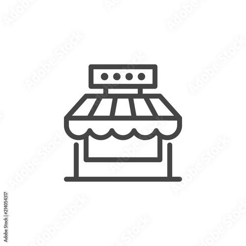Fototapeta Market shop line icon