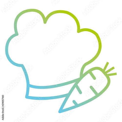 Fototapeta carrot fresh with chef hat obraz na płótnie