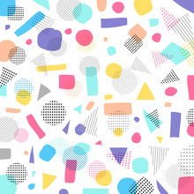 Abstract Geometric Modern Pastels Color, Black Dots Pattern With Lines Diagonally On White Background