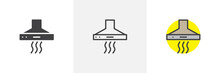 Extractor Hood Icon. Line, Solid And Filled Outline Colorful Version, Outline And Filled Vector Sign. Symbol, Logo Illustration. Different Style Icons Set. Pixel Perfect Vector Graphics