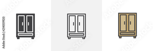 Photo Clothing cupboard icon