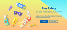 Sun Safety Banner With Text De...