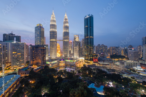 Photo Stands Kuala Lumpur Top view of Kuala Lumpur skyline at dawn
