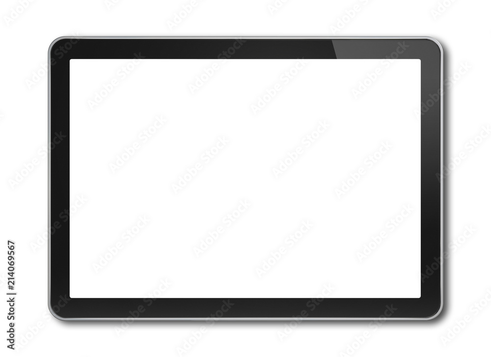 Fototapeta Digital tablet pc, smartphone template isolated on white - obraz na płótnie