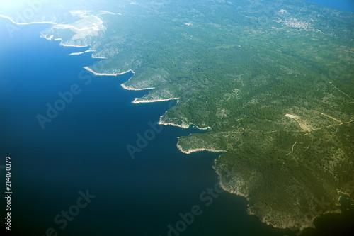 Papel de parede Aerial view of island Šolta in Croatia.