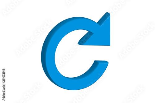Fotografie, Obraz Símbolo de recargar en azul.