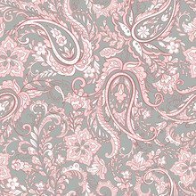 Floral Seamless Paisley Pattern