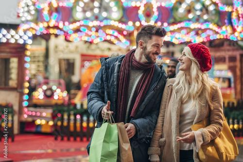 Couple Enjoying the Retail Sales