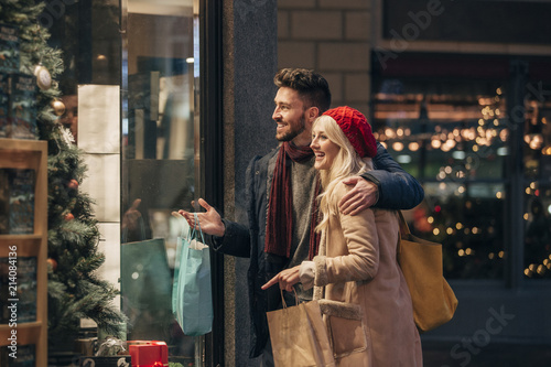 Couple Doing Some Window Shopping