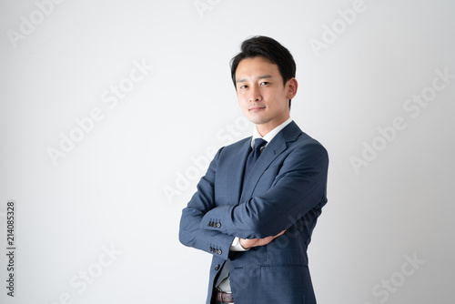Fotografiet ビジネスマン、腕組み