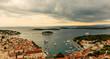 Travel photo from an amazing city on Island Hvar, Croatia. A beautiful view at Paklinski Island in front of Hvar, Croatia.