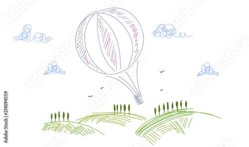 Photo volare, mongolfiera, aria, libertà,