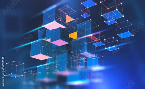Blockchain technology Fototapet