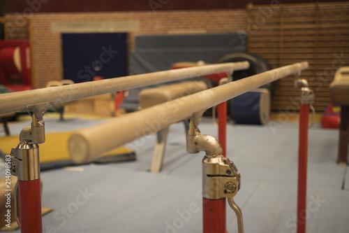Gymnastique Gymnastic equipment in a gymnastic center