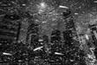 Winter in NYC. Manhattan at night