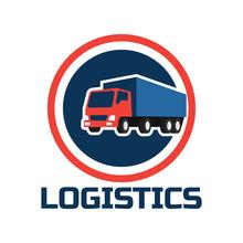 Shipping Logistics Logo, Vecto...