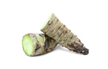 Slice Wasabi Root Isolated On ...