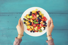 Mixed Summer Fruits Salad Top ...