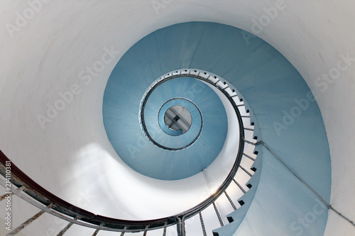 Fotografia  Spiral lighthouse staircase